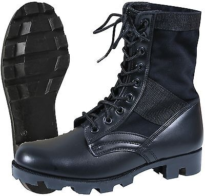 Rothco Black Steel Toe Jungle Boot - GI Style Footwear Gi Style Jungle Boots