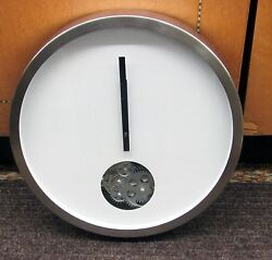 METAL 14 DIAMETER WHITE CONTEMPORARY WALL SMALL CIRCLE OF MOVING GEARS 42827