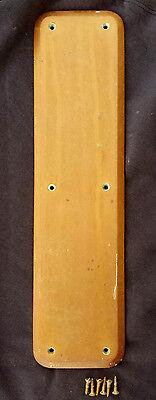 """4""""x16"""" Antique Sargent SOLID Cast Bronze Patina Door Push Cover Plate Escutcheon"""