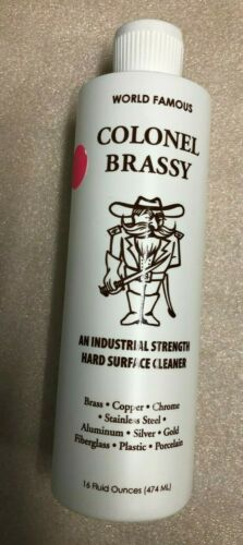Colonel Brassy - Hard Surface Cleaner/Polish - Motorcycle Boat ATV RV Metal-16oz