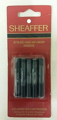Fountain Pen Refills! Sheaffer White Dot! Pack of 5 Jet Black! (1990) Nice Item