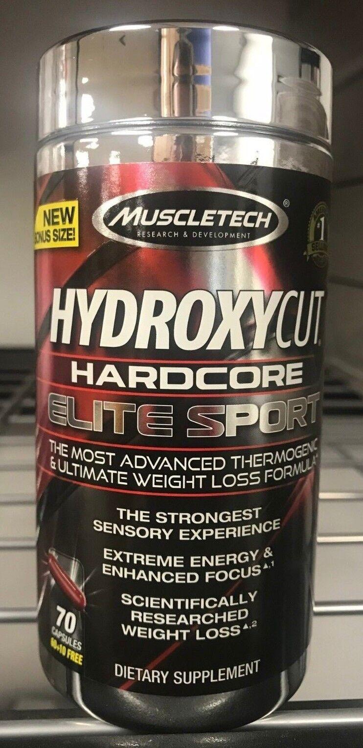 Hydroxycut Hardcore Elite Sport 70ct Nouveau - Perte de poids rapide scellé