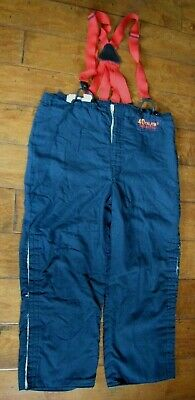 Arc Flash Large Nomex Iiia Pants With Suspenders 40 Cal Cm2 Arc Rating