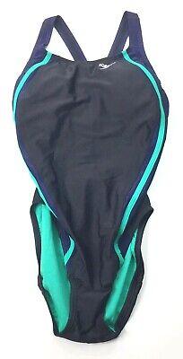 Speedo Womens PowerFlex Eco Quantum Splice One Piece Swimsuit Size 8 NEW