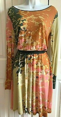 NWT Anthropologie Hoss Intropia Womens Cotton Multicolored Floral Dress Size M