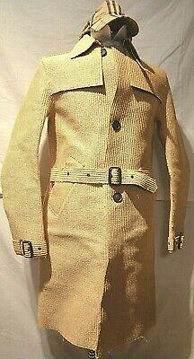 Burberry ~Prorsum Men's Honey Runway Raincoat/Mac/Trenchcoat (S) UK/US 36/38