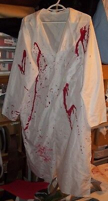 bloody white lab coat for a doctor or mad scientist costume or other cosplay