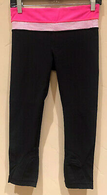 Lululemon Run: Inspire Crop II Black / Flash / Wee Are From Space Size 6