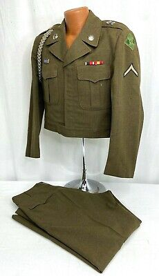Vintage US Army 4th Infantry Enlisted Ike Jacket & Pants
