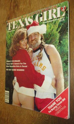 Texas Girl Nude Magazine December 1979 Willie Nelson Christmas Cover Rare