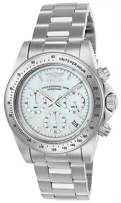 Invicta Men's Speedway Chrono 200m Mother of Pearl Stainless Steel Watch 24768