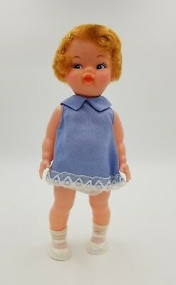 VINTAGE PLASTIC DOLL STRAWBERRY BLONDE FROM WOOLCO *ORIG PKG *CLEAN!
