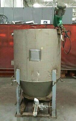 340 Gallon Stainless Steel Mixing Tank W Ge 13 Hp Mixer