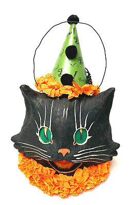 Vintage Vickie Sonyers Bethany Lowe Pail Candle Cat