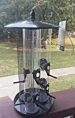 Bird Feeder Triple Tube Wild Bird Feeders Weather Proof Panorama Bird Feeders Bird Feeder Weather Dome