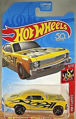 2017 Hot Wheels Kmart Exclusive Flames 3/10 '68 CHEVY NOVA Yellow w/Black St8 Sp