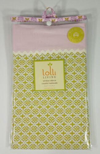 NIP Lolli Living poppy seed pink green white window valance curtain