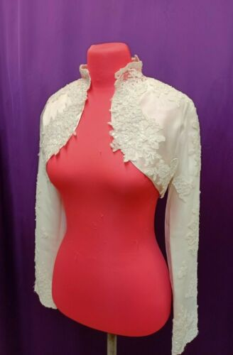 Lace Bolero Short Bridal Boleros Jackets Womens Wedding Shrugs Tops Cream Color