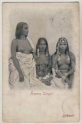 E AFRICA TANGALI WOMEN FRAUEN AUS DJIBOUTI VINTAGE 1900S ETHNIC NUDE PC