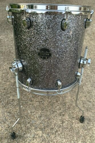 "Mapex Saturn Maple / Walnut 14"" Floor Tom - Granite Sparkle"