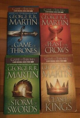 Game Of Thrones Books 1-4 Pb George R.R. Martin a Song of Ice and Fire unread