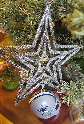 UNIQUE NFL Cowboys Star HANGING CHRISTMAS DECORATION HELMET Riddle - Dallas Cowboys Christmas Decorations