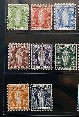 BRITISH VIRGIN 1899 1/2d to 5s SG 43 - 50 Sc 21 - 28 St. Ursula set 8 MLH