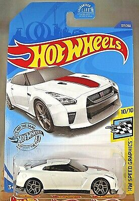 2020 Hot Wheels #137 HW Speed Graphics 10/10 17 NISSAN GT-R [R35] White wGrayPR5
