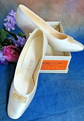 Used, VINTAGE satin Champion DANCE SHOES by ZELLER London UK 6.5 US 8 WEDDING slippers for sale  Shipping to India