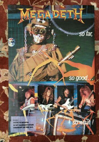 MEGADETH  So Far So Good So What!  rare original promotional poster