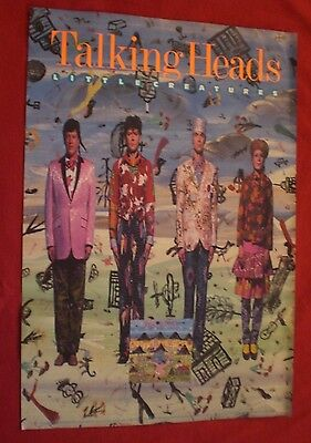 """TALKING HEADS  Little Creatures   Original SIRE 1985 Large PROMO POSTER 26"""" X 37"""