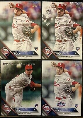 2016 Topps AARON NOLA RC LOT Series One 133 Opening Day Update Holiday Phillies