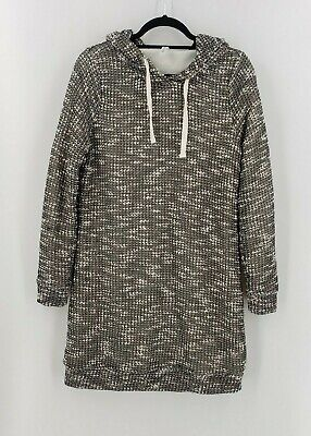 Fabletics Women's Sweater Black White Tie Hood Pullover Size M