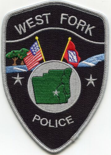 WEST FORK ARKANSAS AR State Flag POLICE PATCH