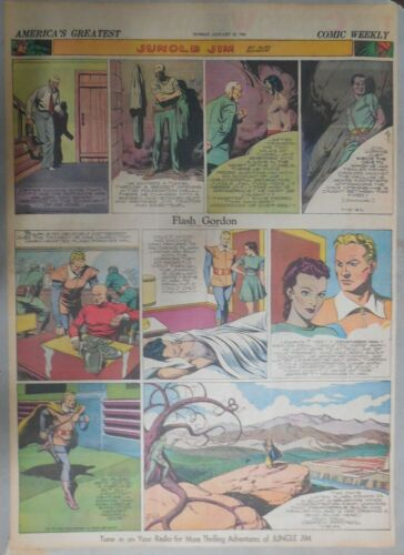 Flash Gordon Sunday by Alex Raymond from 1/12/1941 Large Full Page Size !