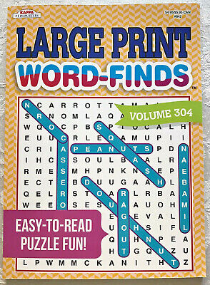 Word Finds Puzzle Book Vol 304 Large Print Games Search Lot Kappa Full Size