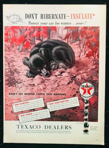 TEXACO GAS & OIL Color Print Ad / Don