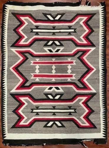 "Vintage Navajo Native American Crystal Rug Blanket Dazzler Weaving 56x41"""