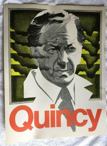 "Rare ""Quincy"" poster NBC promotional 1970s beautiful 22x28"" TV show Jack Klugman"