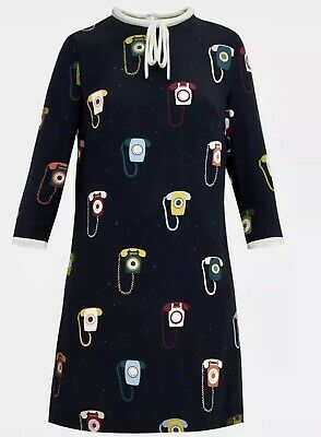 BRAND NEW TED BAKER JAVAH TELEPHONE TIE NECK DRESS SIZE 3 UK 12
