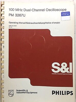 Philips Pm 3267u Oscilloscope Operating Manual Pn 9499-440-26601