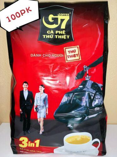 100pk*16g G7 Instant Coffee 100 SACHETS Trung Nguyen Vietnamese Coffee