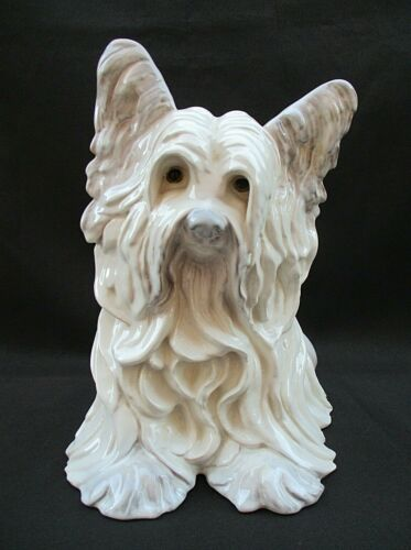 "RARE VINTAGE KAY FINCH SIGNED CERAMIC SKY TERRIER LARGE 11"" FIGURINE IMPERFECT"
