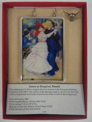 RENOIR Dance at Bougival Miniature Art Glass Ornament Suncatcher -