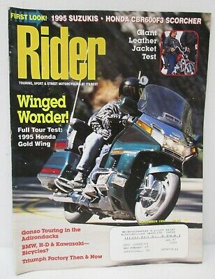 Rider Magazine November 1994 Touring Street Motorcycling At Its Best