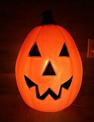 "Vintage Lighted Blow Mold Jack-O-Lantern Halloween 21 1/2"" Tall"