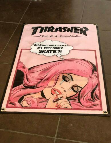 Thrasher Magazine Girl Skateboard surf cap top banner poster