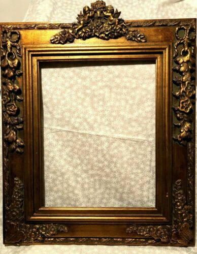 """Antique Reproduction Gold Gilt Vintage Picture Frame Opening 16X20"""""""