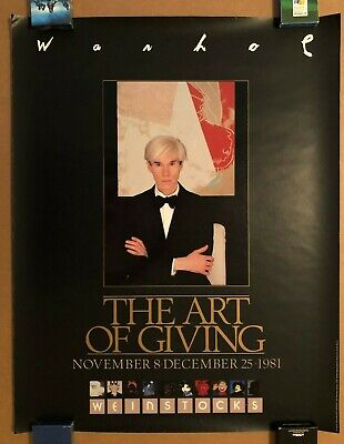 ANDY WARHOL THE ART OF GIVING APPEARANCE ORIGINAL POSTER 1981 MYTHS WEINSTOCK'S