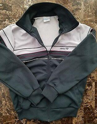 Adidas Trefoil Vintage 80s Track Jacket Mens sz S Windbreaker Grey EUC VTG